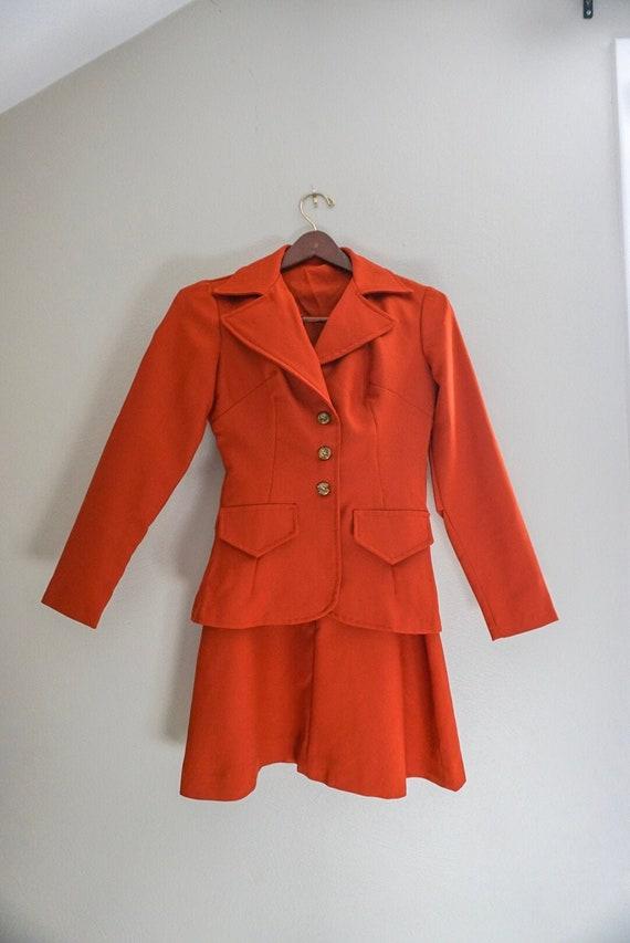1960s/70s vintage autumn leaf two piece suit
