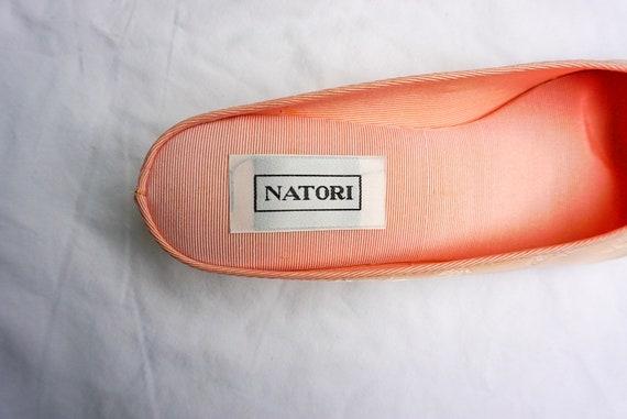 Natori 1980's vintage pink slippers - image 4