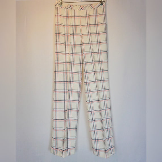 1970s vintage checkered bell bottoms - image 1