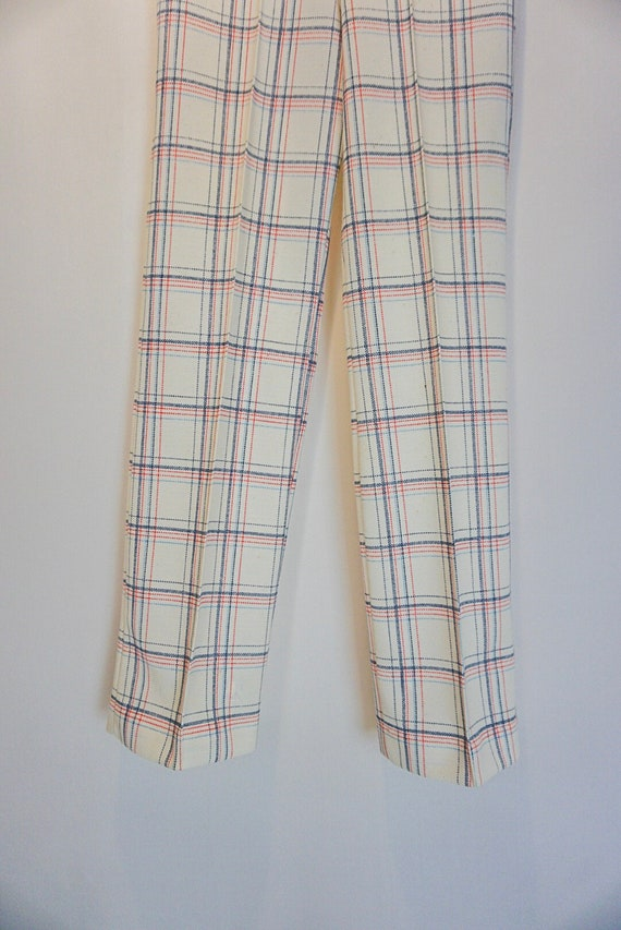 1970s vintage checkered bell bottoms - image 2