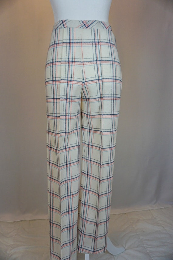 1970s vintage checkered bell bottoms - image 7