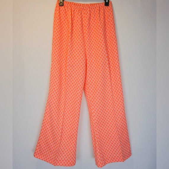 1970s Pink Bell Bottoms - image 1