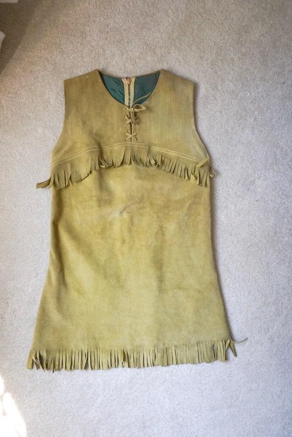 Dents Leather 1960's Vintage Dress