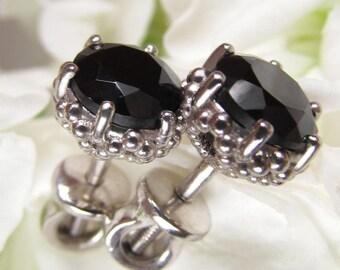 Mystic Spinel Earrings Black Spinel Boho Earrings Dangle Cluster Earrings Black Silver Dangles Cluster Earrings Long Black Earrings