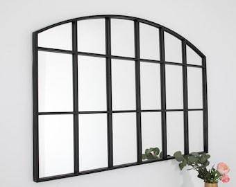 Window Mirror, Window Mirror UK, Wall Mirror, Mirror Rectangle, Industrial Mirror, Window Mirror Arched, Window Mirror Black, Wall Mirror UK