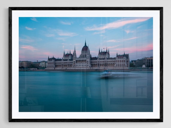 Hungarian Parliament at Blue Hour Budapest Hungary Long Exposure Unframed Print