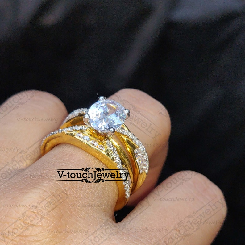 Enhancer Wrap Ring Engagement Wedding Solitaire Ring Authentic Wrap Guard Band For Women Enhancer Ring Guard Wraps For Ring CZ Diamond