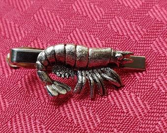 Prawn Tie Bar Cufflinks Accessories Seafood Tie Clip T0023 Shrimp Tie Clip Crustacean Tie Bar Lifetime Guarantee