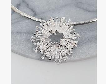 Sun 925 Sterling Silver Pendant Chopsticks Coral Wreath Mariposa Jewelry Design