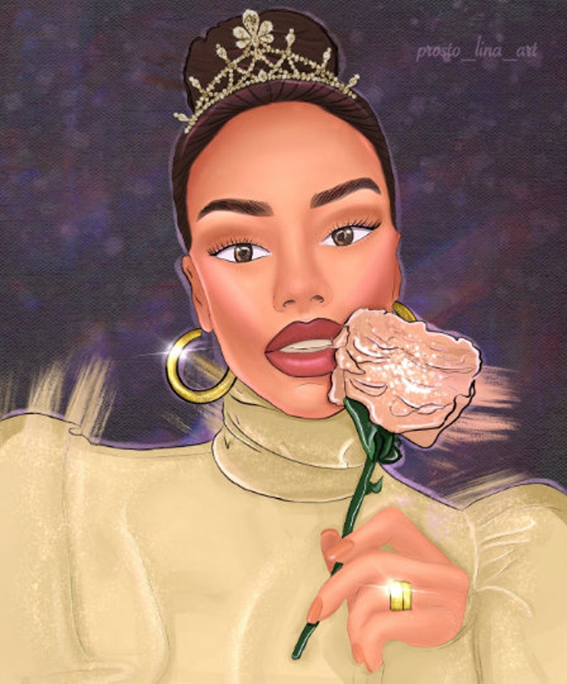 Digital Gift Art Photo Illustration Custom Portrait From Your Photo With Love Custom Stylized Digital Portrait