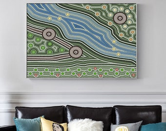 Framed Wall Art - Blue Valley - Poster Prints - Home Hanging Picture Decor