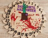 Spooky Halloween Countdown Clock, Halloween Home Decor, Halloween Wall Art, Halloween Wall Decoration