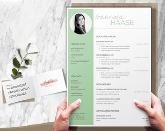 Application template german   CV template for Word, Pages, OpenOffice, LibreOffice