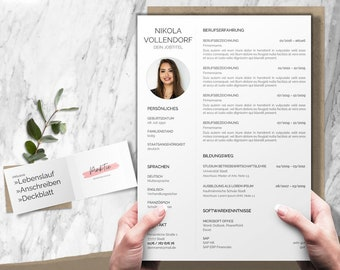 Application template german   CV template modern   Word & Pages   CV Layout Application