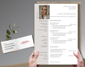 Professional application template   Cv Template german   Modern Layout & Design   Word + Pages