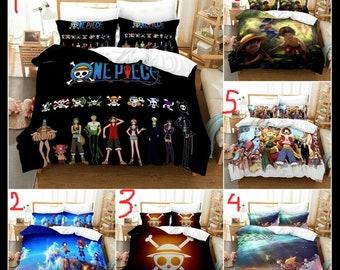 Quilt Cover Bed Sheet Anime Bakemonogatari Blanket Double-Bed Full Set 4PCS #X81