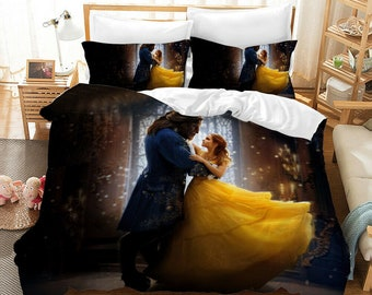 Beauty And The Beast Bedding Etsy