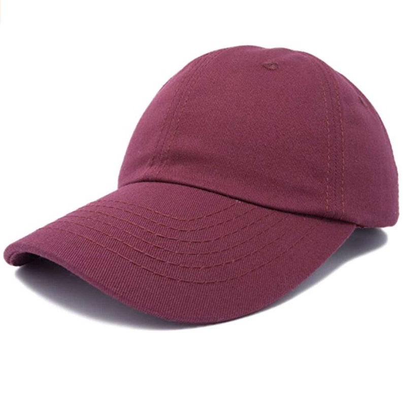 Baseball Cap Plain Solid Color Blank Army Hat Ball Unisex