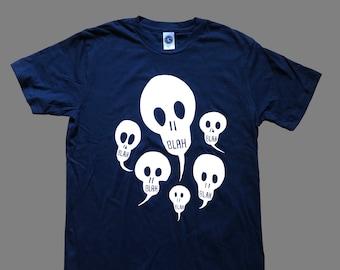 Blah Blah Blah T-Shirt (Fundraiser for ACLU) Navy Blue