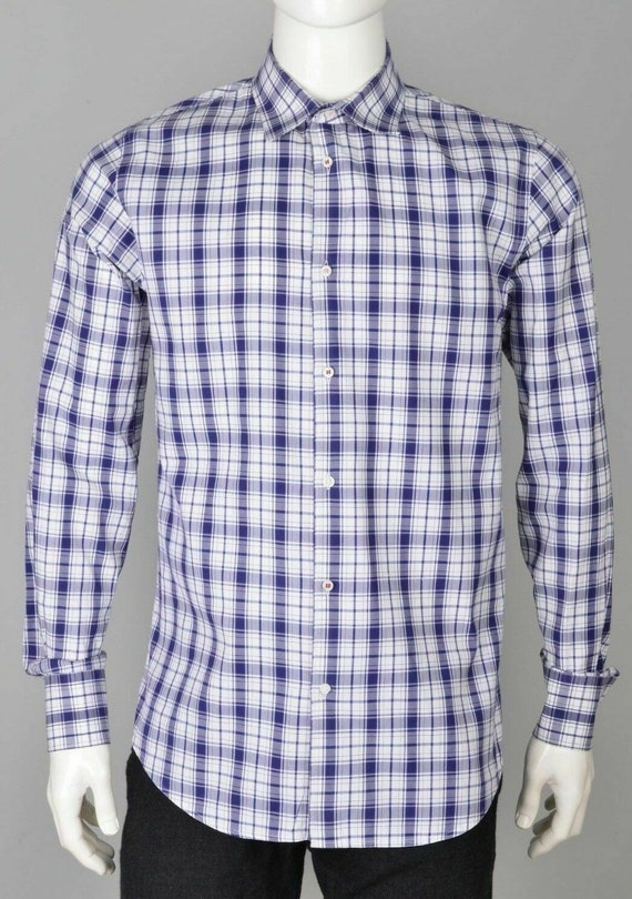 Dsquared2 mens checked casual button down shirt si