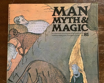 Man Myth & Magic illustrated encycloprdia of the supernatural No. 81 1971 letter from someone called 777 Amado Crowley