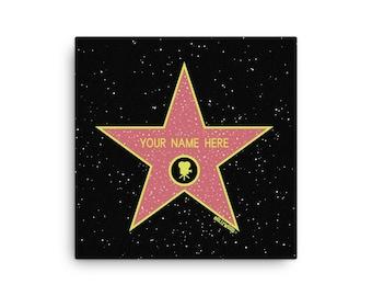 Gift Celebrity Custom Hollywood Star Plaque Award Sign Present Decor