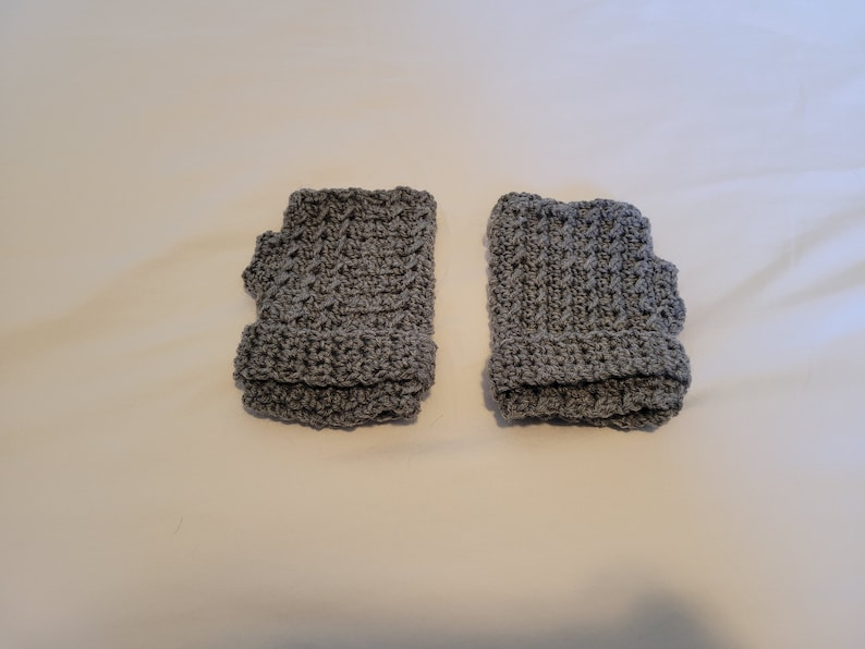 Crochet Fingerless Gloves Wrist Warmers Winter Gloves Hand Warmers