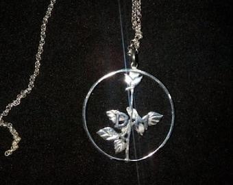 Depeche MODE Jewelry Set Violator red rose necklace Violator necklace Depeche Mode necklace Depeche Mode earrings violator earrings