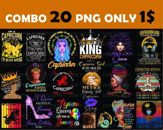 Digital Print Design Sublimation Digital. Combo Png Download Combo 20 Capricorn Birthday PNG Instant Download Digital download