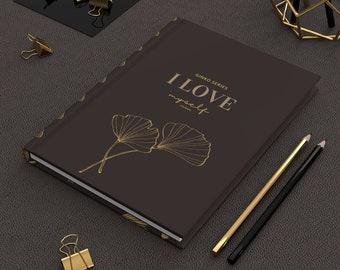 Self Love Hardcover Choko Choko Journal I love Myself Ginko Series, Hard cover, Ruled Line Journal, Journal NoteBook, Artsy Journal