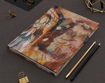 Mary Magdalene Art | Ruled Line Notebook | Christian Art Baptism Gift | Prayer Notebook | Modern christian art, Godmother Gift