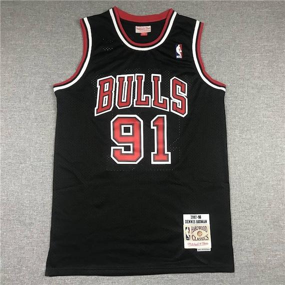 Vintage Dennis Rodman Chicago Bulls 1997-98 Black