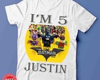Lego Batman repurposed t-shirt tote