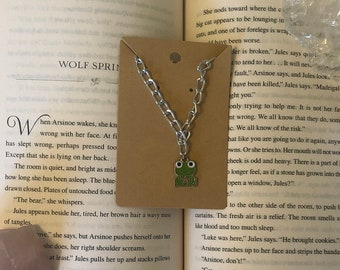 Chunky chain frog necklace- cute trendy and aesthetic