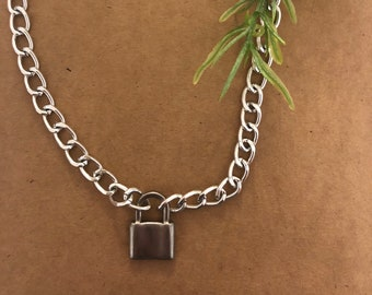 Lock Necklace- cute trendy and aesthetic