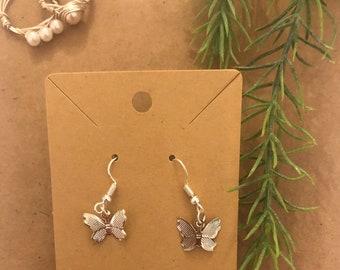 Silver butterfly earrings- cute trendy and aesthetic