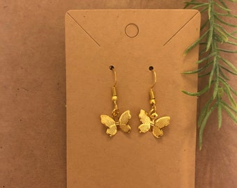 Gold butterfly earrings- cute trendy and aesthetic
