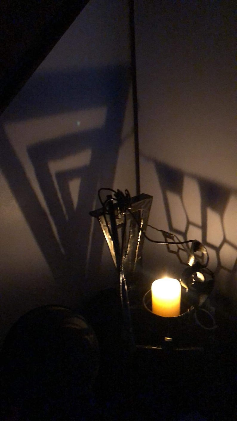 Abstract candle stand