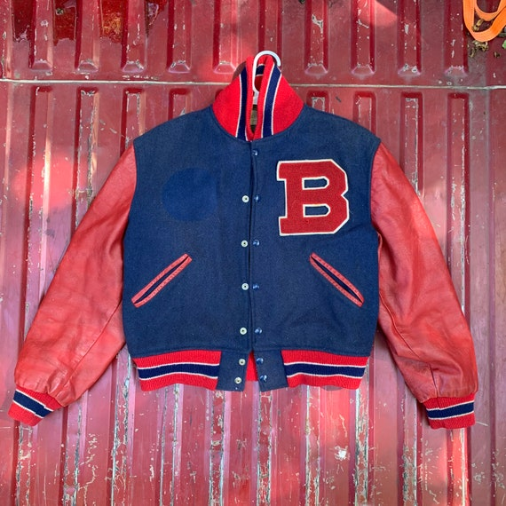 Genuine Leather Lettermen Varsity Jacket from the