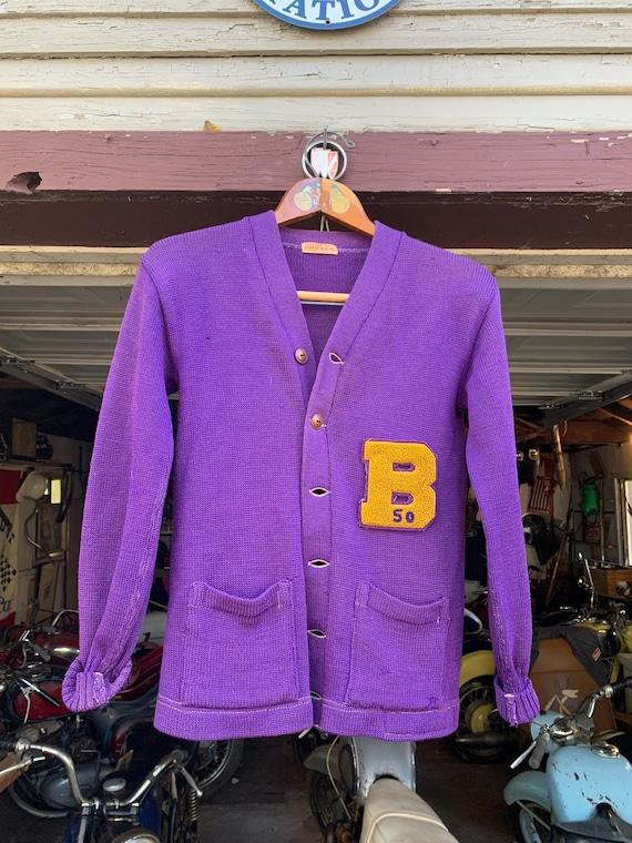 "1950 - House of Harter - ""B"" Letterman Sweater"