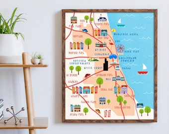 Chicago art map