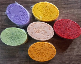 Handmade Decorative Shea Butter Bar Soaps with Sea Salt-Various Scents