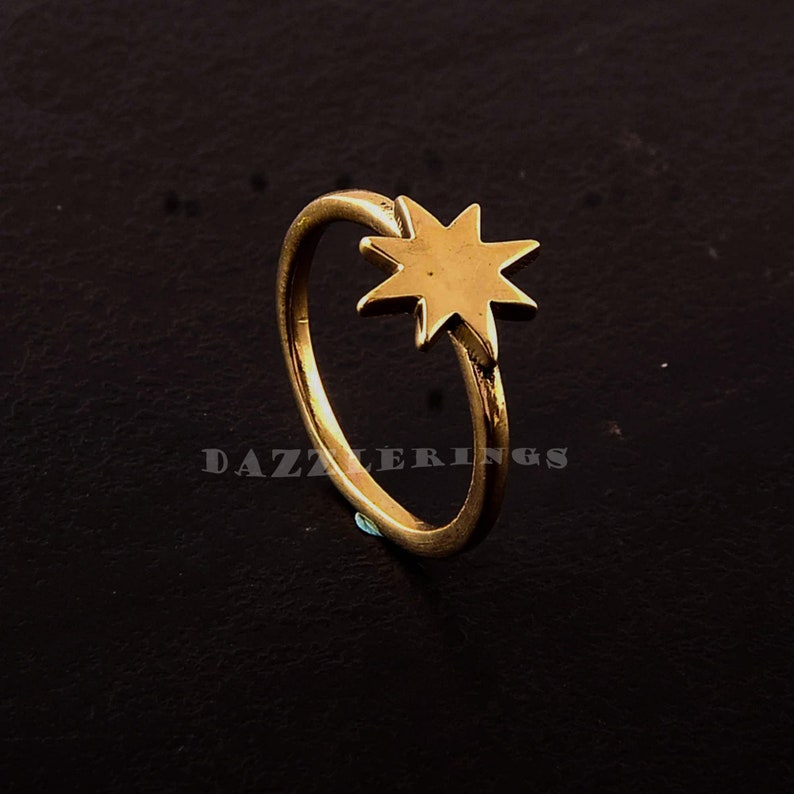 Star Brass Ring Bohemian Ring,Vintage Ring,Handmade Ring,Brass Jewelry,Unique ring gifts for mother,anniversary ring,engagement gold ring