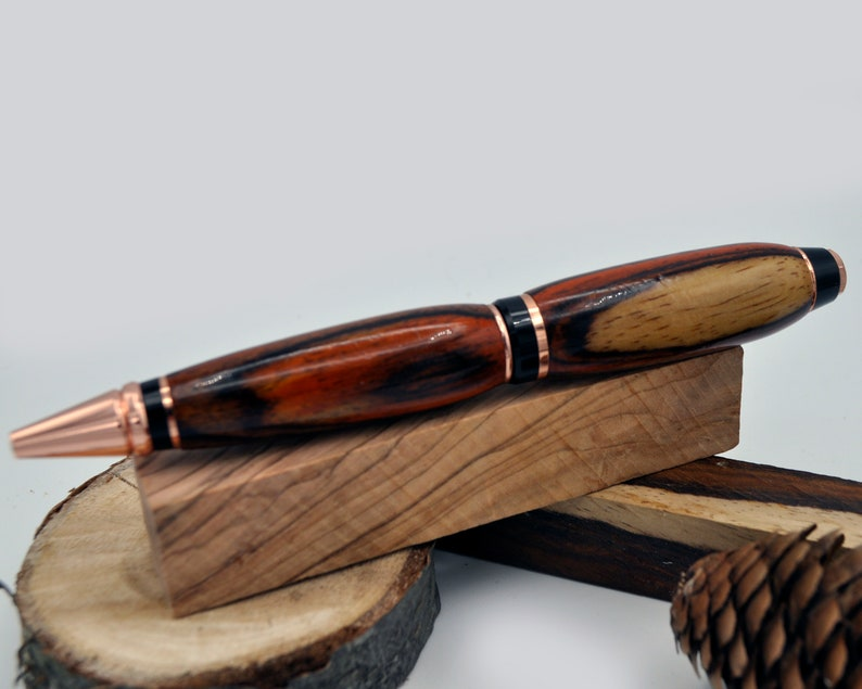 Beautiful Handmade Cocobolo exotic wood Cigar pen,handturned gift pen,handcrafted ballpoint twist pen,gift for him,gift for dad or husband