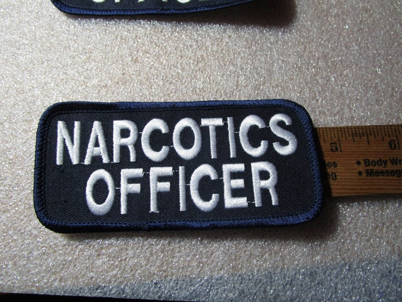 Iron on Patches Narcotics Officer Pair or two