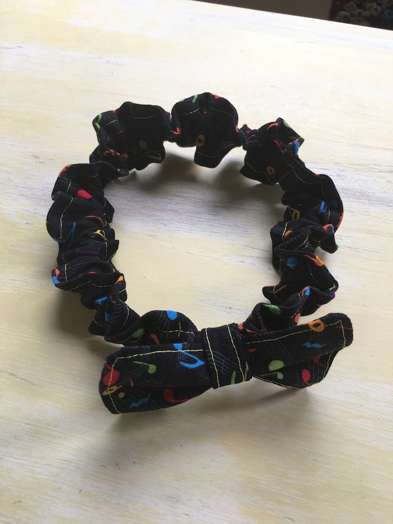 Music Notes Baby Headband Handmade with Elastic