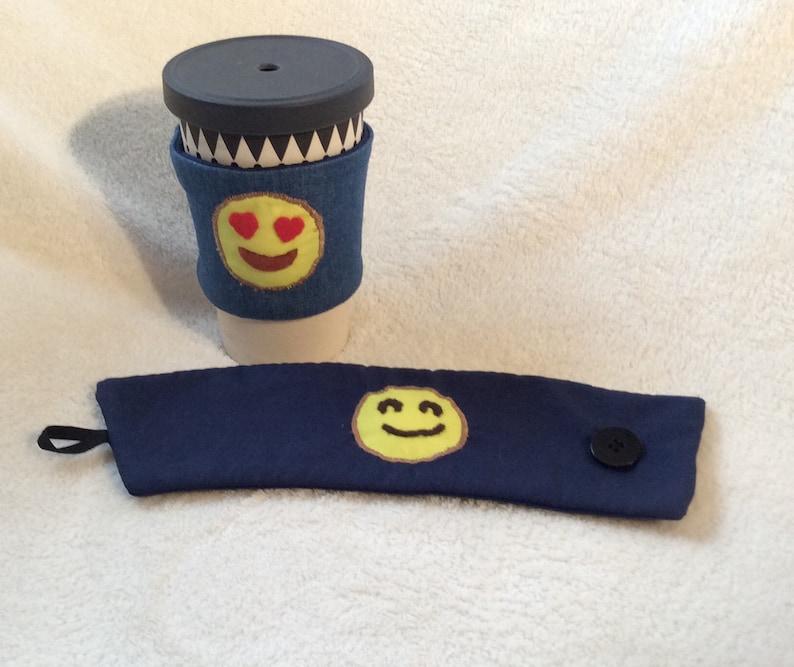 Handmade Emoji Coffee Cup Sleeve