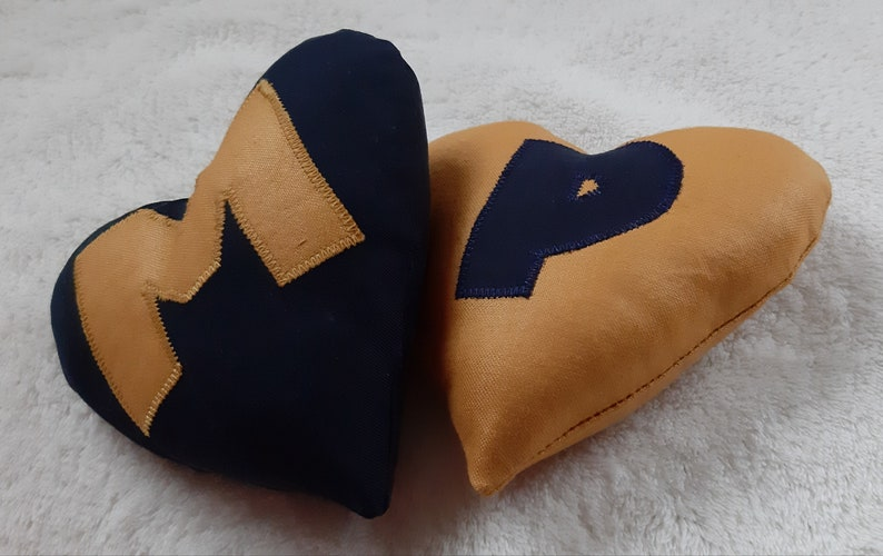 Keepsake Appliqued Cushion Letter Heart Cushion Gift Handmade Personalised Monogrammed Gift