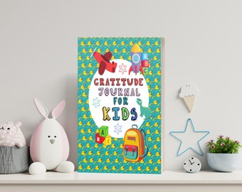 Gratitude Journal For Kids   3 printable PDF + cover ready to print + 4 png images   Each page Not the same - INSTANT DOWNLOAD