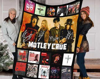 Motley Crue Blanket - Fleece Blanket, Sherpa Blanket, Mink Blanket,Great Gift,Special Blanket,Anniversary Gift